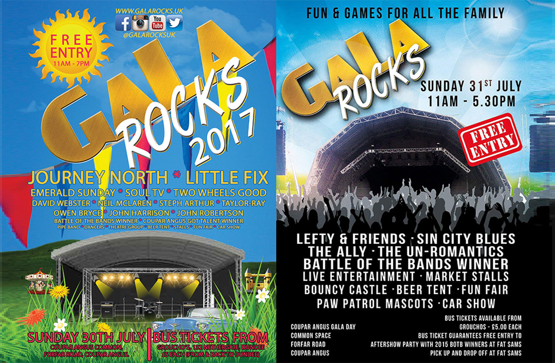 gala rocks, coupar angus, Gigs in Dundee